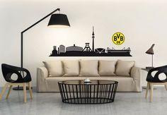 Wandtattoo BVB Borussia Dortmund Skyline Echte Liebe Fußball Fanshop Deko BVB 09