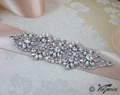 Select a ribbon...Bridal sash rhinestones and pearl sash wedding sash by VioGemini