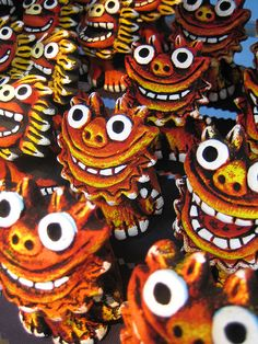 Colorful Okinawa Shisa ... I fell in love with this design when visiting in 2006.