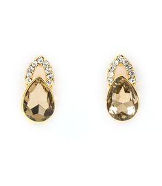 A Dime To Keep Glass Stone Stud Earrings, $14.00