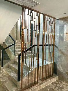 red copper stainless steel metal screen-Shanghai Yikai Metal Products Co. Partition Screen, Door Design, Wooden Screen Door, Jaali Design, Metal Screen Doors, Screen Design, Stainless Steel Screen, Stairs Design, Stairs