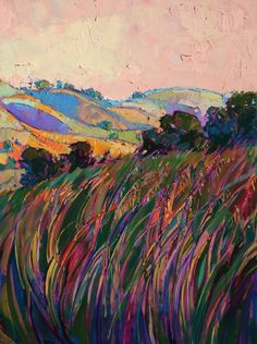 Paso Robles hexaptych oil painting, Panel No. 5