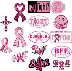 Think Pink Stickers