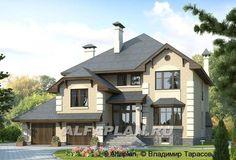 """""""Эвридика""""- красивый загородный дом с гаражом и цокольным этажом (93AC), Alfaplan.ru"""