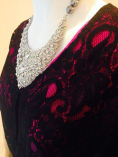 Black lace and pink silk mix, SoloBlu SS2014 collection in store now!