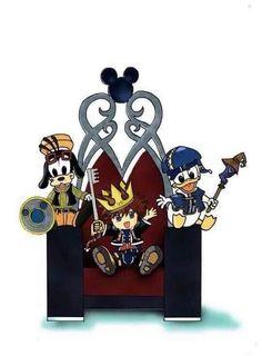 Sora Donald And Goofy Kingdom Hearts 32341807 500 547 Jpg