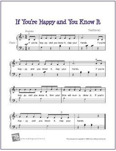 If You're Happy and You Know It | Free Sheet Music for Piano #piano