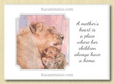 Lioness & Cub Mother's Day Card B
