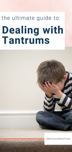 Here's everything you need for dealing with tantrums. Parenting Tips and tricks that will help you stop tantrums like a pro.