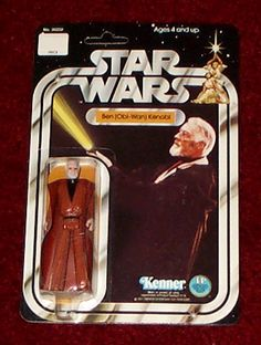 Kenner Star Wars Figure - Ben (Obi-Wan) Kenobi - vinyl cape and retractable light saber