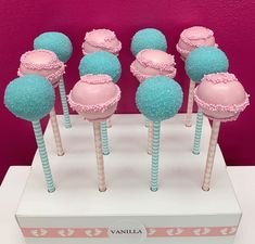 Vanilla Cake Pops Beautiful Baby Shower, Beautiful Babies, Baby Shower Sweets, Cake Pops, Vanilla Cake, Gender, Pink, Cakepops, Hot Pink