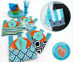 Outdoor Mini Mats with Pockets | Sew4Home