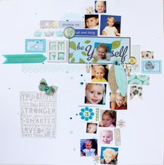 Flexible template with Bits and Pieces from Noell at Paperclipping: Be Yourself & Love It