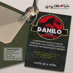 Convite Festa Jurassic Park Dinossauro
