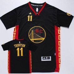 9d0bb3a81bfd Golden State Warriors  11 Klay Thompson Black Slate Chinese New Year Jersey
