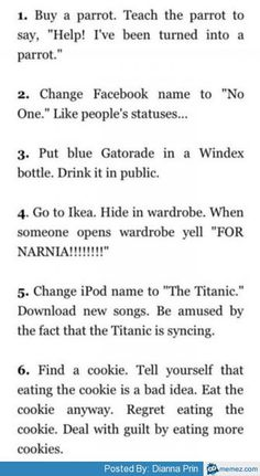 Funny things to do