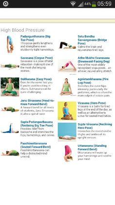 Yoga poses for high blood pressure yogajournal.com/poses