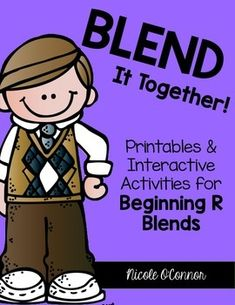 Phonics Activities for Beginning R Blends! Printables, Puzzles, and Games!!
