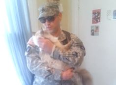Loyal Cat Welcomes Owner Home From Military Deployment