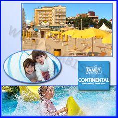 Diamo il benvenuto all' #FAMILYHOTELCONTINENTAL di Rimini tra i Family Hotel consigliatissimi da Bimbisi.it. New entry del gruppo FAMILY HOTELS ITALIA il Family Hotel Continental direttamente sul mare con spiaggia privata da quest'anno rinnovato!!  Prova la Vacanza All Inclusive Beach & Free Bar 24h con tutti i bimbi gratis! Spiaggia Privata con ingresso sicuro di fronte al Family Hotel con servizi esclusivi offerti nella Vacanza.