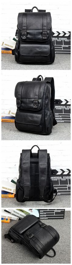 b63d778a71 Vintage Leather Backpack College Backpack School Backpack Vintage Leather  Backpack
