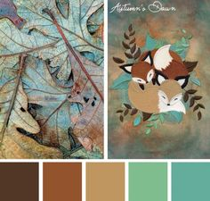 Find a different kind of fall color scheme for your projects with this Autumn's Dawn color inspiration.