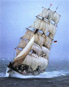 Gorch Fock under full sails.