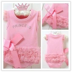 """Pink Princess Romper 