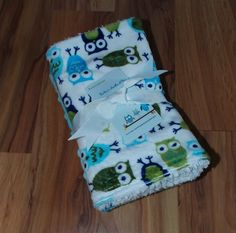 Minky Owl Baby Burp Cloths by DarlenesNeedlesnPins on Etsy