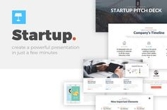 Startup business Keynote template by INVATERdesign on Etsy