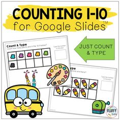 Are you looking for Back to School themed Google Slides™ activities for your kids? Try our Back to School Math activities for Google Slides™. Subtraction Activities, Counting Activities, Kindergarten Activities, Math Games, Back To School Crafts For Kids, Learning Numbers Preschool, School Themes, Google Classroom, Math Lessons