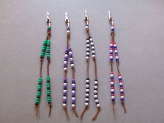 Beaded mane tail clips. Jewelry for you or your horses hair.