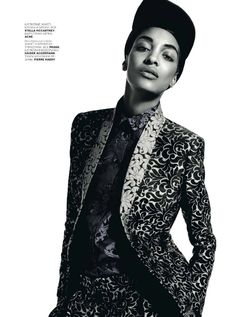 Jourdan Dunn is Pretty in Patterns for Vogue Russia October 2012 by Richard Bush - HARMONIA ORDEM