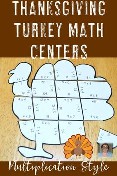 These Multiplication Turkey Puzzles are great for fall math centers, review, early and fast finishers, enrichment, GATE, and critical thinking skills. Any student that needs a lesson in perseverance will benefit from these puzzles. With this fun game format your students will stay engaged while practicing necessary skills! Use them in your third or fourth grade classroom! Low prep - just print, cut, and go! Perfect to use any time in November for Thanksgiving. 3rd & 4th Grade $