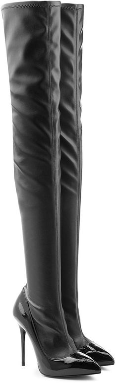 Alexander McQueen Over-the-Knee Leather Boots.........Happy Christmas