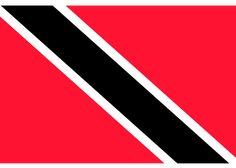 La Bandera de Trinidad y Tobago esta compuesta por los colores Rojo, Blanco, Negro, fue creada el 31 de Agosto de 1962 este país esta cerca de Venezuela. ✅