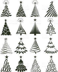 Weihnachtsbaum-Kollektion lizenzfreier Vektorgrafiken Lizenzfreies vektor illustration