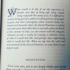 From Wild & Wise: sacred feminine meditations for women's circles and personal awakening by @amybammelwilding Calling in that safe space for us all in the wake of #metoo