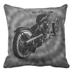 biker groove throw pillow