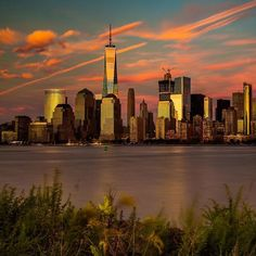 Photo by@jkhordi  Another view of the incredible sunset over NYC on Sunday, 9/11…