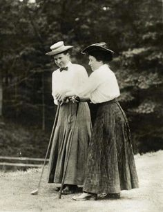 Harriot and Margaret Curtis, circa 1910. The Curtis Sisters were pioneering American golfers who were also champion tennis players. In 1932, they donated the Curtis Cup for a biennial women's golf competition between the US and Great Britain.
