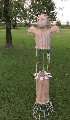 angel - www. Wind Chimes, Sculptures, Angels, Gardens, Ceramics, Gallery, Outdoor Decor, Artwork, Home Decor