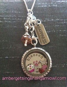 I helped my SIL design this Origami Owl locket inspired by her granddaughter. :)