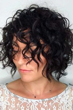 Trendy Short Curly Hairstyles and Helpful Tips for Curly Hair ★ See more: http://glaminati.com/trendy-short-curly-hairstyles/ #BobCutHairstylesOmbre
