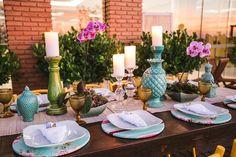 Opção de decoração das mesas com menos flores