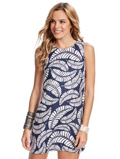 9723b5ef66 A classic navy linen dress with a classic island print that simply defines  the classic shift dress is our Albany Classic Shift Dress perfect for  island ...