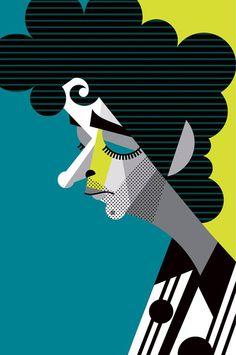 Gustavo Cerati, un genio más en el cielo ! People Illustration, Graphic Design Illustration, Graphic Art, Illustration Art, Pablo Picasso, Sketch Manga, Karla Gerard, Arte Pop, Rock Art