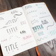 Bullet Journal Header Ideas [Not Only For Newbies] If you want to spruce up your bullet journal, start with your headers. Here you can find bullet journal header ideas including titles, dates, and banners. Bullet Journal Headers, Bullet Journal Banner, Journal Fonts, Bullet Journal Aesthetic, Bullet Journal Writing, Bullet Journal Ideas Pages, Bullet Journal Layout, Bullet Journal Inspiration, Bullet Journals