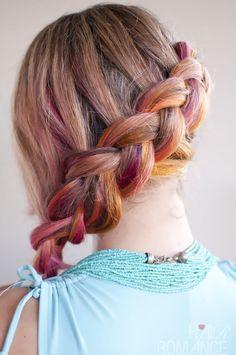 Colorful Side Braid.