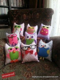 Mini Baykuş Yastıklar